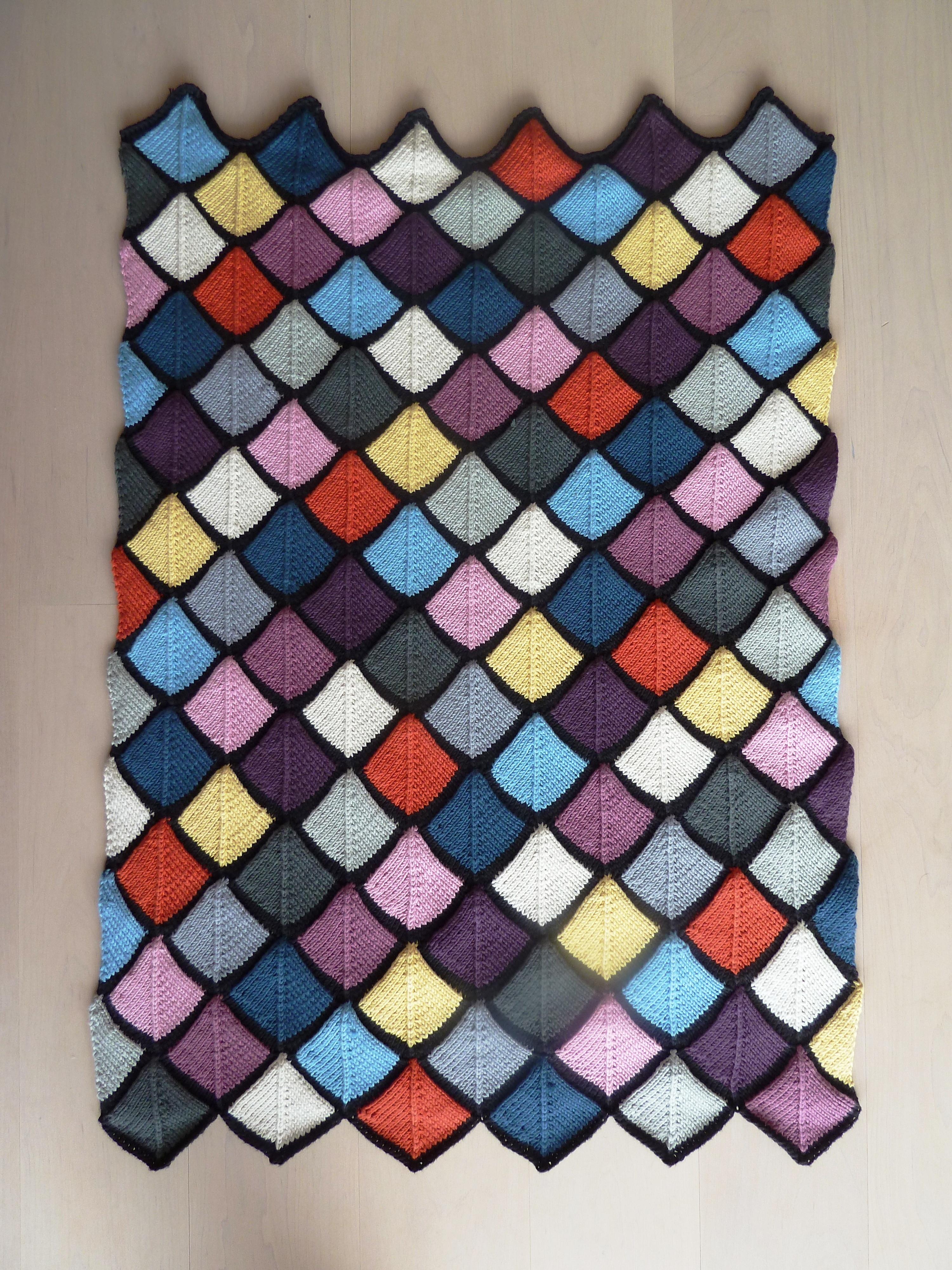 babydecke patchwork gestrickt funandflirty. Black Bedroom Furniture Sets. Home Design Ideas